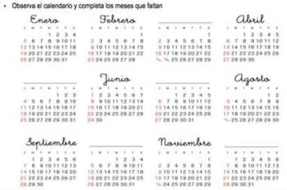 Months Year - Spanish Blackboard Academy